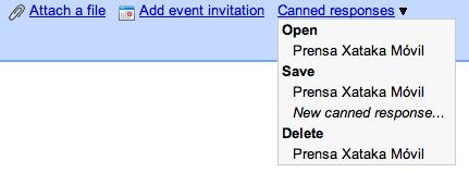 Gmail añade respuestas preparadas