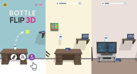 Bottle Flip 3D, el juego de voltear botellas de agua que llega a lo más alto de Google Play