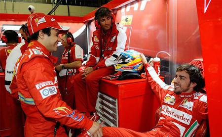Felipe Massa deja entrever que Fernando Alonso no utilizaba el simulador de Ferrari