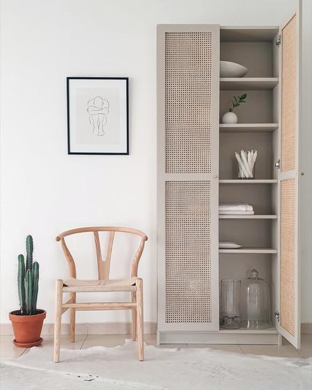 Ikea Hack; o cómo transformar tus muebles de Ikea con una rejilla de mimbre