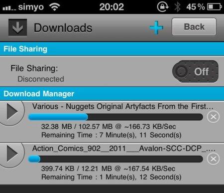 Meteoric Download Manager: un nuevo gestor de descargas para iOS que incorpora muchas de las opciones deseadas