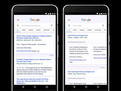 Google te alertará de noticias falsas directamente en los resultados de búsqueda