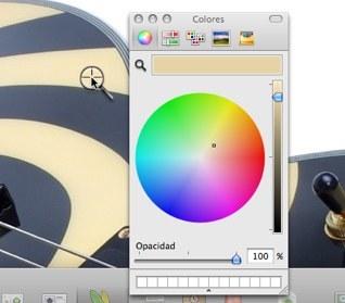 Detalle de selección de colores