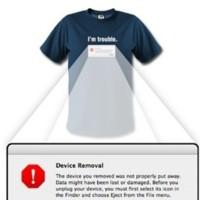 Camiseta para los que buscan problemas con dispositivos USB