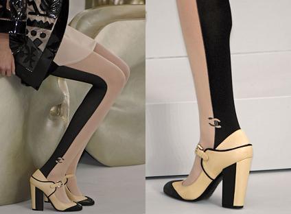 Las medias bicolor de Chanel