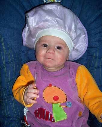 La foto de tu bebé: pequeño chef
