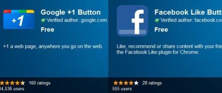 """Google y Facebook lanzan extensiones para Chrome que permiten hacer directamente """"+1"""" y """"Me gusta"""""""