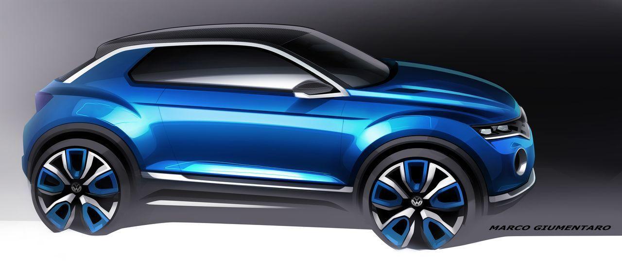 Volkswagen T-ROC (bocetos)