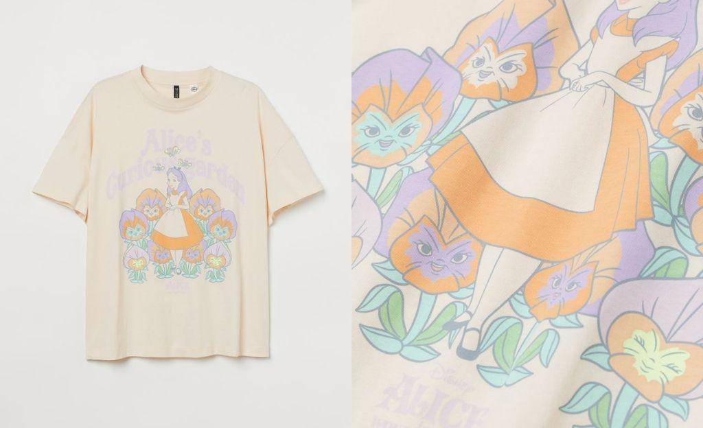 Camiseta oversize de Alicia en el País de las Maravillas