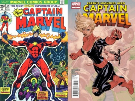 Portadas del cómic Captain Marvel