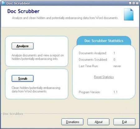 Doc Scrubber, elimina metadatos de Word