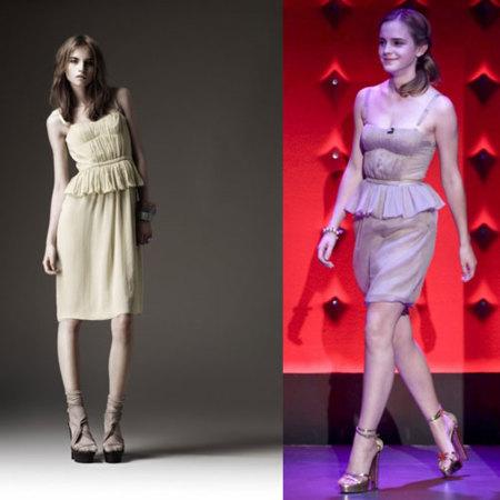 Emma Watson estrena la colección de Burberry Primavera-Verano 2010