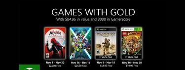 Juegos de Xbox Gold gratis para Xbox One y 360 de noviembre 2020