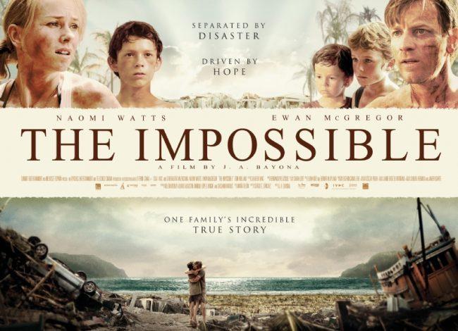 Un cartel en inglés de Lo Imposible