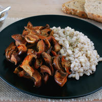 Níscalos a la flor de sal y romero con cebada: receta sencilla para la temporada setera