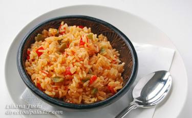 Receta de arroz salteado con harissa