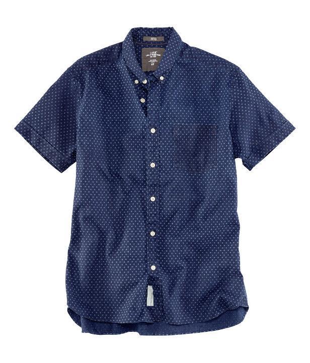 Manga corta camisa azul H&M 2013