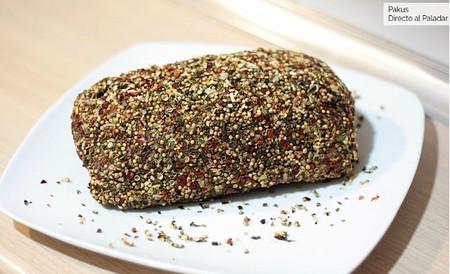 Receta de solomillo en costra de pimienta y mostaza