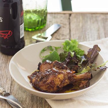 Pollo guisado en cerveza negra: receta