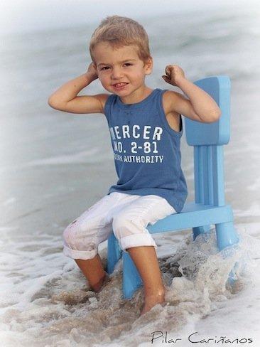 La foto de tu bebé: Jorge jugando en el agua