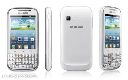 Samsung Galaxy Chat, teclado QWERTY y Ice Cream Sandwich