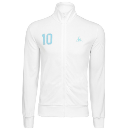 chaqueta futbol lecoq blanca