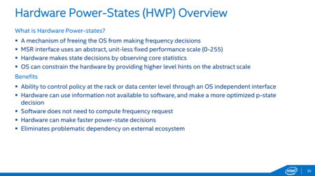 Intel Xeond Hardware Power States