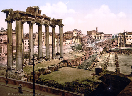 Roma, 1890: el esplendor decadente de la capital italiana, en fotos a todo color