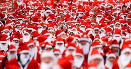 Las carreras de Papá Noeles en Estados Unidos
