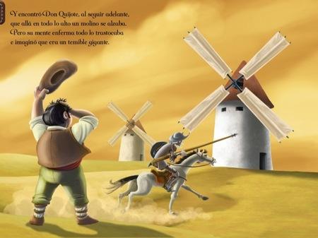 Las aventuras de Don Quijote de Touch of Classic en el iPad en versión para niños