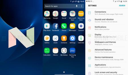 Estos son los cambios que llegarán a la familia Galaxy S7 con Android Nougat
