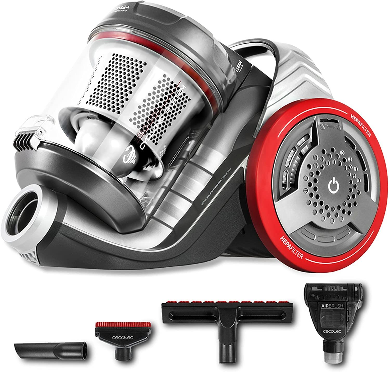 Cecotec Aspirador sin Bolsa Potente de Trineo Conga EcoExtreme 3000. 700 W, Eficiencia Energética 3AAA, Depósito 3,5 litros, 4 Accesorios, Filtrado Alta eficiencia [Clase de eficiencia energética A+++]
