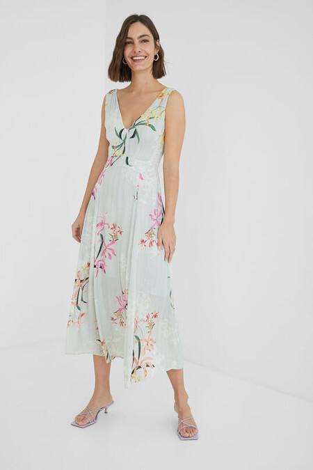 Vestido Midi Flores