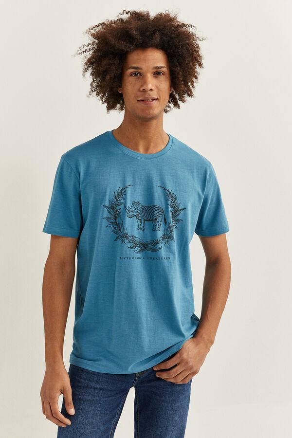 Camiseta con estampado de rinoceronte