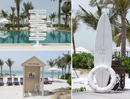 Chanel recorre las playas de España con un Beach Club que tiene de todo: cócteles, cursos de maquillaje, yoga facial y boutique