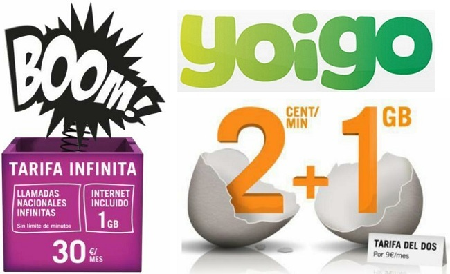 Tarifa Infinita y Tarifa del 2 Yoigo