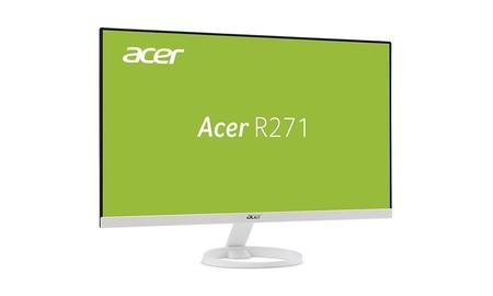 Si buscas monitor de gran diagonal, en Amazon tienes en oferta el Acer R271, por sólo 169,99 euros