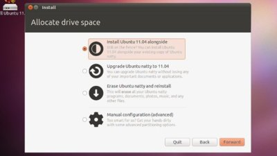 Instalador del live CD de Ubuntu 11.04 ya ofrece opción para actualizar el sistema