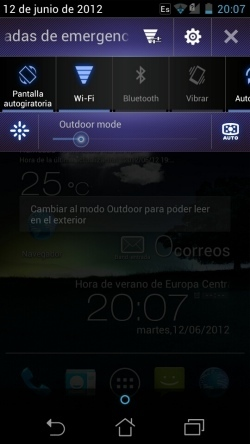 Captura de pantalla notificaciones ASUS padfone