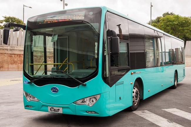 Autobús eléctrico BYD en Barcelona