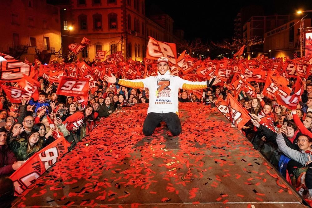 Foto de Celebración del séptimo título de Marc Márquez (11/12)