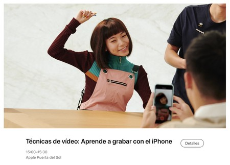 sesión Today at Apple en España