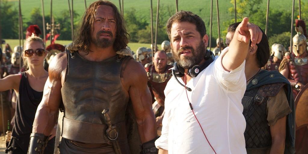 Brett Ratner con Dwayne Johnson rodando Hercules