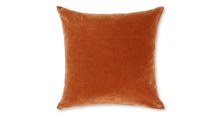 Cojín de terciopelo Lorna 45 x 45cm, naranja