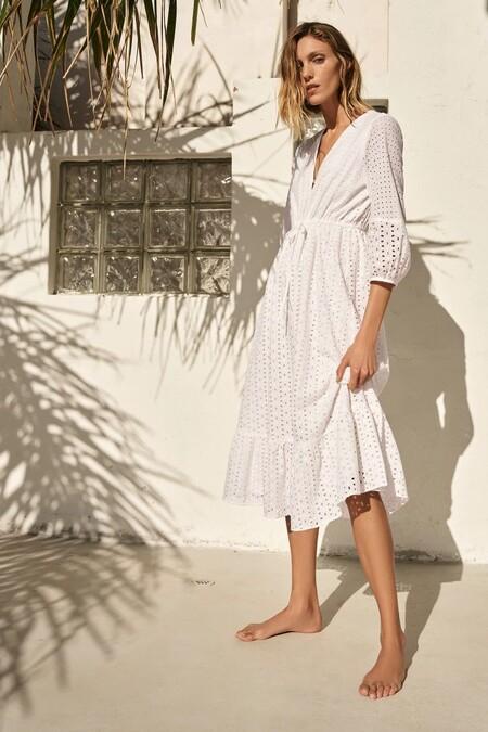 Vestido Blanco De Zara 6
