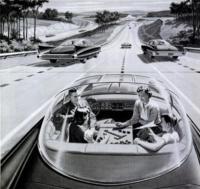 Así debería haber sido el coche autónomo de Google... según 1957