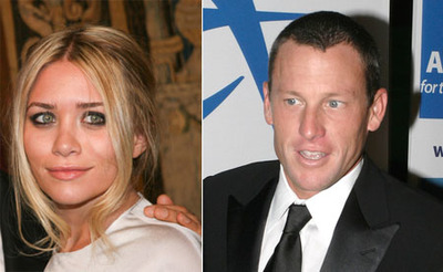 Ashley Olsen planta a Lance Armstrong