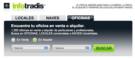 Infotradis, encuentra oficinas y locales por internet
