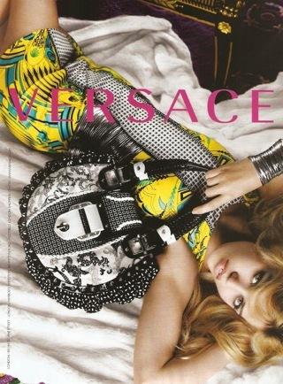 Georgia May Jagger en la nueva campaña Versace Primavera-Verano 2010