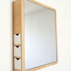 Foto de espejo con discretos compartimentos para for Espejo con almacenaje